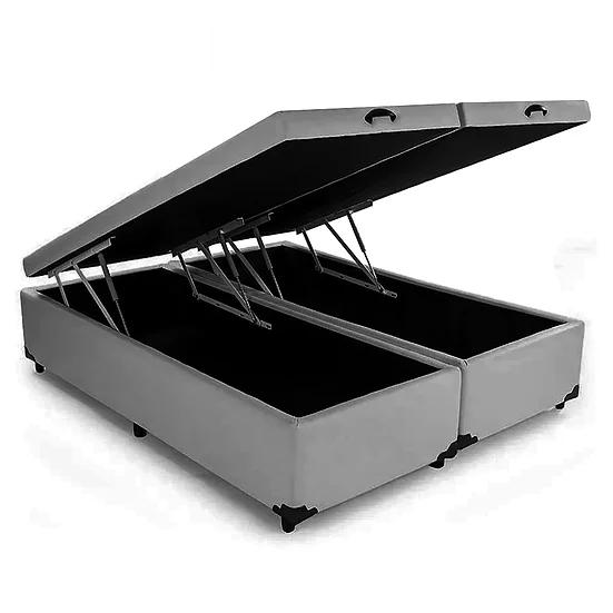 Box Baú Bipartido Votobox Corino Cinza