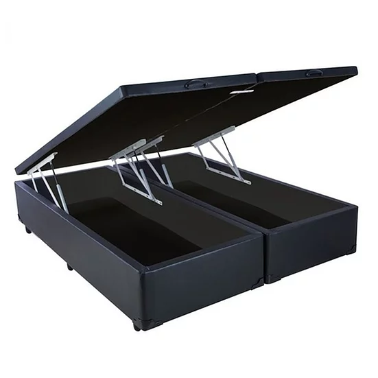 Box Baú Bipartido Votobox Corino Preto